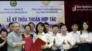 Bưu điện tỉnh ký kết hợp tác với Cục Thống kê Nghệ An