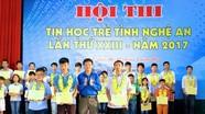 3 thí sinh đạt giải Nhất cuộc thi Tin học trẻ không chuyên toàn tỉnh năm 2017