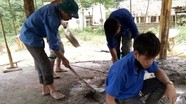 Đoàn thanh niên làm nhà ở cho hộ nghèo neo đơn