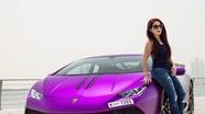 Bản độ Lamborghini Huracan màu tím của nữ đại gia Dubai