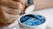Giới trẻ Hàn Quốc mê mẩn với tranh vẽ trên cà phê