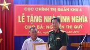 Cục Chính trị Quân khu 4 tặng nhà tình nghĩa cho vợ liệt sĩ
