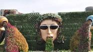 'Đã mắt' với vườn hoa trong lòng sa mạc