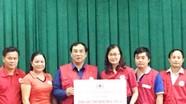 Hội Chữ thập đỏ tỉnh tiếp nhận 50 triệu đồng cứu trợ lũ lụt