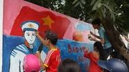 Nghệ An: Độc đáo bức tranh tường hơn 100 m2 do 500 học sinh vẽ