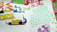 Những tấm thiệp tự chế của học sinh vùng cao tặng thầy cô giáo