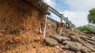 Sạt lở nghiêm trọng đường ven sông Lam: Chậm khắc phục !