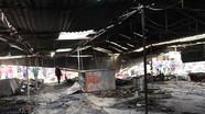 Anh Sơn: Cháy chợ, 40 ki ốt bị thiêu rụi hoàn toàn