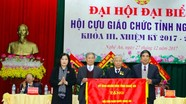 Nhà giáo nhân dân Lê Văn Phớt tái đắc cử Chủ tịch Hội Cựu giáo chức Nghệ An