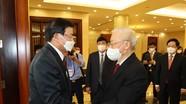 Hình ảnh Tổng Bí thư Nguyễn Phú Trọng đón, hội đàm với Tổng Bí thư, Chủ tịch nước Lào