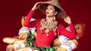 Trang phục độc đáo toàn bánh mì của H'Hen Niê dự thi Miss Universe 2018