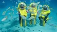 Xe máy ngầm giúp con người lặn cùng sinh vật biển
