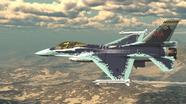 Máy bay Mỹ F-16 được sơn lại thành Su-57 của Nga