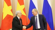 Tổng Bí thư, Chủ tịch nước Nguyễn Phú Trọng trao đổi điện mừng với Tổng thống Nga Putin