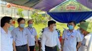 Phó Bí thư Thường trực Tỉnh ủy kiểm tra công tác bầu cử tại Diễn Châu, Quỳnh Lưu