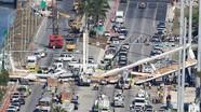 Sập cầu đi bộ 14 triệu đô mới khánh thành tại Mỹ, ít nhất 6 người chết