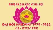 Nghệ An qua các kỳ Đại hội: Đại hội đại biểu Đảng bộ tỉnh nhiệm kỳ 1979 - 1982