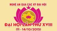 Nghệ An qua các kỳ Đại hội: Đại hội đại biểu Đảng bộ tỉnh lần thứ XVIII (11 - 14/10/2015)