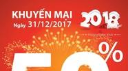 Viettel khuyến mại 50% giá trị thẻ nạp vào ngày 31/12/2017