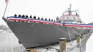 Tàu chiến mới nhất của Hải quân Mỹ mắc kẹt trong băng trong chuyến hải hành đầu tiên