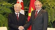 Tổng Bí thư gửi Điện cảm ơn tới Chủ tịch Cuba Raul Castro