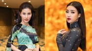 Hoa hậu Mỹ Linh, Diễm My 9x mặc áo dài cầu kỳ đi sự kiện