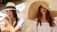 Sao Việt chuộng mũ nan đầu mùa nắng