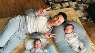 Người vợ bỏ làm tiếp viên hàng không, sinh đôi 2 trai cho MC Thành Trung