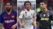 Modric, Ronaldo, Messi cùng vào đề cử Quả Bóng Vàng