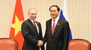 Tổng thống Nga Putin gửi điện chia buồn Chủ tịch nước Trần Đại Quang từ trần