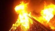 Cháy nhà dân nghi do chập điện ở huyện biên giới Nghệ An