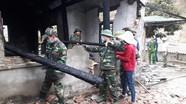BĐBP Nghệ An giúp người dân khắc phục hậu quả hỏa hoạn