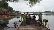 Lợi dụng thời gian cách ly chống dịch bệnh, khai thác cát sỏi trái phép trên Sông Lam