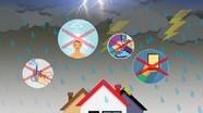 3 kỹ năng phòng ngừa tai nạn nguy hiểm trong mưa bão