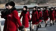 Dàn nữ CĐV xinh đẹp Triều Tiên 'tràn qua' Hàn Quốc cổ vũ cho thế vận hội