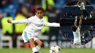 Con trai C. Ronaldo, Marcelo xuống sân mừng Real giành vé vào chung kết Champions League