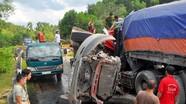 Xe tải và container đấu đầu, 2 tài xế tử vong