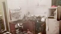 Ngôi nhà bị sét đánh cháy lúc rạng sáng