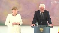 Thủ tướng Đức lại run bần bật trong sự kiện của chính phủ