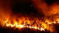 Rừng thông trên núi Hồng Lĩnh bốc cháy như biển lửa