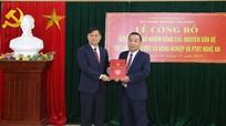 Nghệ An có tân Giám đốc Sở Nông nghiệp và Phát triển nông thôn