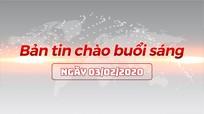 Bản tin chào buổi sáng Nghệ An ngày 03/02/2020