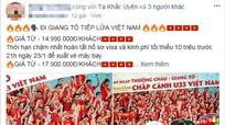 """""""Cháy"""" tour từ Nghệ An đi Trung Quốc xem trận chung kết lịch sử của U23 Việt Nam"""