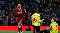 """Salah ghi bốn bàn, Liverpool """"thổi lửa vào gáy"""" Man Utd"""