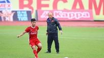 Olympic Việt Nam gặp khó ngay buổi tập đầu ở Indonesia