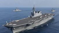 """Tàu chiến lớn nhất Nhật Bản tập trận """"hiếm"""" với Mỹ trên Biển Đông"""
