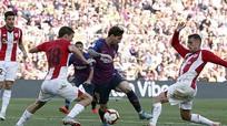 Barca không thắng trận thứ ba liên tiếp ở La Liga