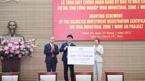 Dự án Khu công nghiệp WHA tại Nghệ An điều chỉnh mục tiêu đầu tư