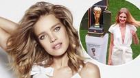 Ngắm nhan sắc gợi cảm của siêu mẫu 5 con xuất hiện tại bế mạc World Cup