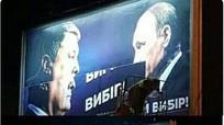 Ảnh chụp Putin bị xóa khỏi các biển quảng cáo của Poroshenko tại Ukraine
